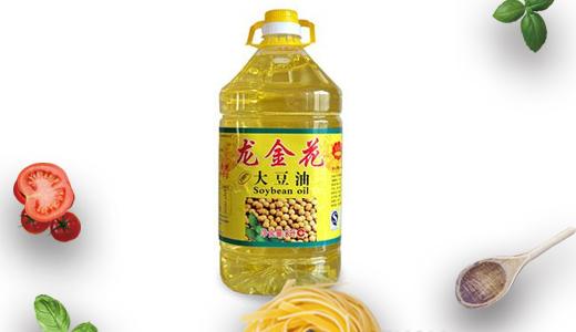 龙金花大豆油5L黄色