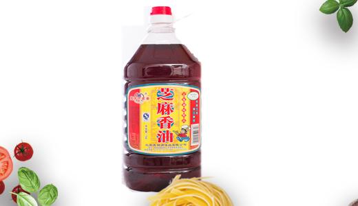 王庆万家香芝麻香油5L桶