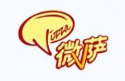 微萨手握披萨