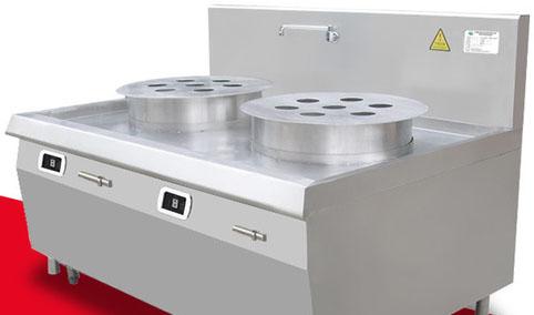 厨禾双头电磁蒸包炉