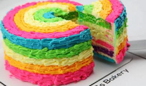 彩虹蛋糕培训