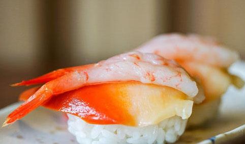 甜虾手握寿司