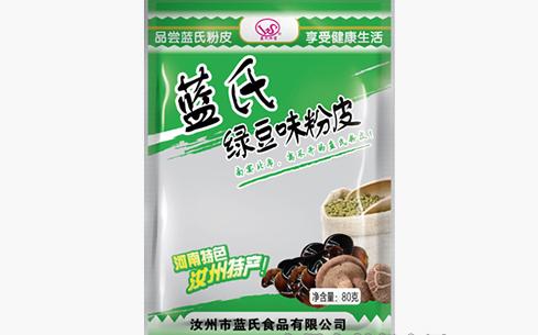 蓝氏汝宝绿豆味粉皮80克