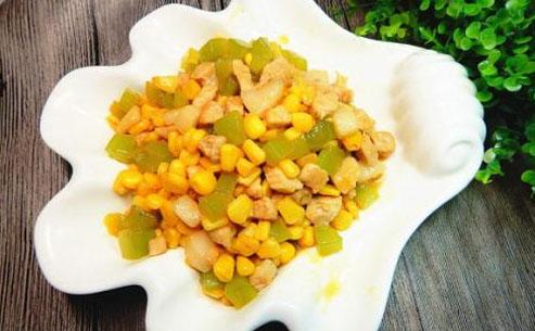 瘦肉炒玉米粒