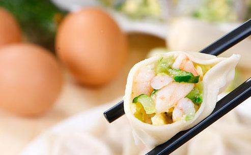 黄瓜虾仁饺子