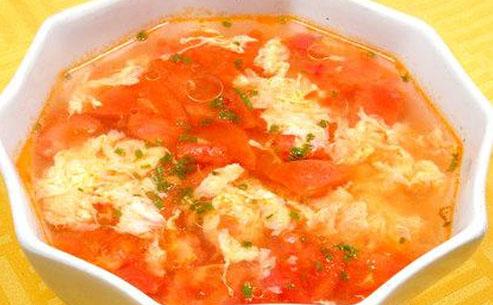 榨菜西红柿蛋汤