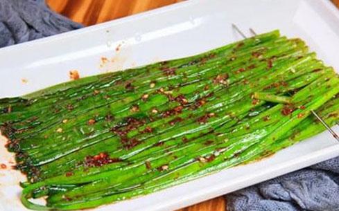 烤韭菜培训