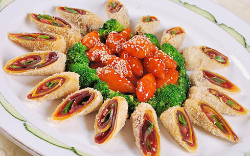 香芋腊肉卷