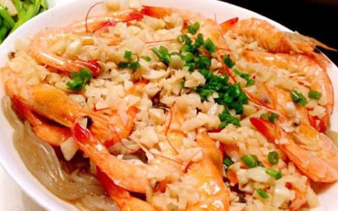 蒜蓉豆豉蒸虾