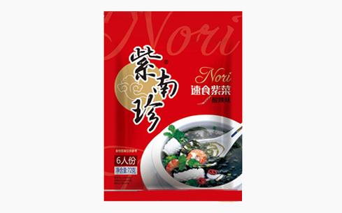 紫南珍速食紫菜酸辣味72g-紫南珍