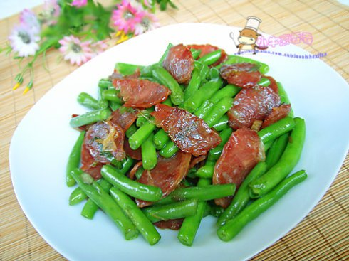 腊肉炒芸豆