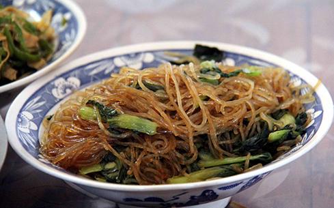 青菜炒粉丝