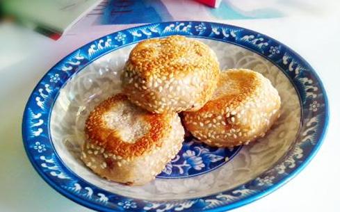 香煎芝麻饼