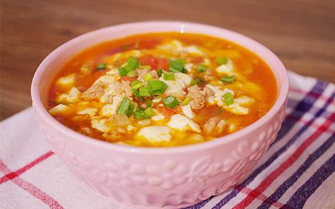 西红柿豆腐蛋汤