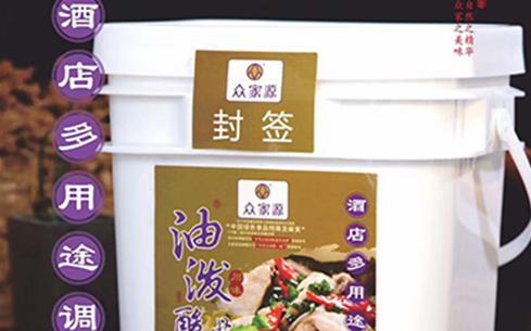 众家源油泼酸菜鱼调料4.1kg