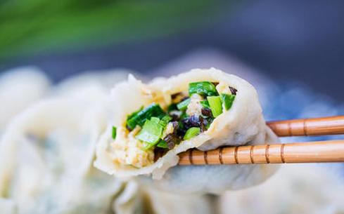 虾仁韭菜饺子