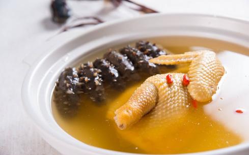 油鸡炖海参