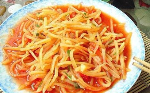 土豆丝炒西红柿