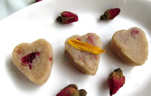 简单的玫瑰绿豆馅