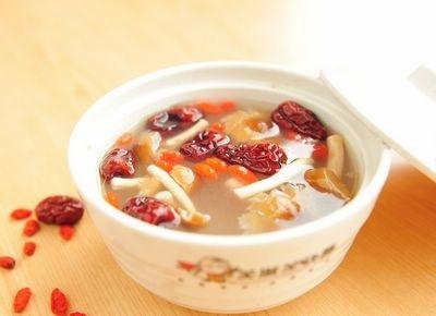 白菜干茶树菇扁豆薏米汤