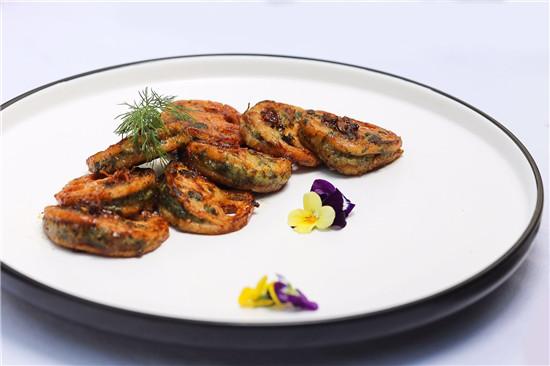 野菜虾饺蒸藕夹