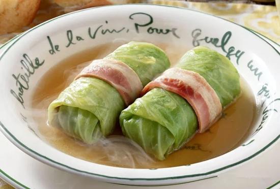 鲜虾白菜卷