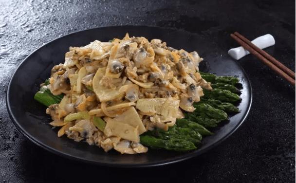 双笋炝蛤肉
