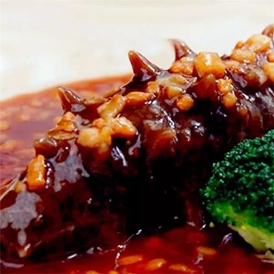 鲍汁肉末烧海参