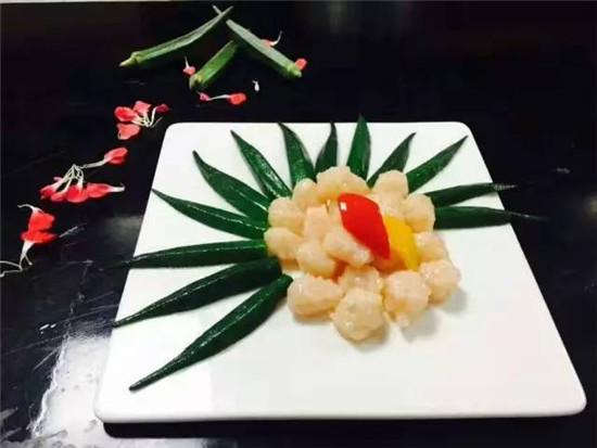 秋葵炒虾滑