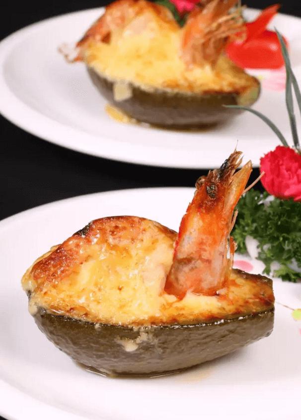 牛油果焗大虾