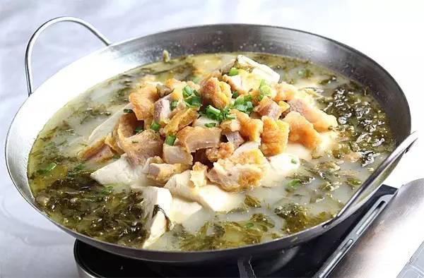 雪菜酥肉豆花