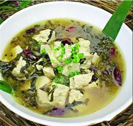 雪菜手掰豆腐