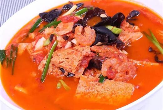 番茄海米炖冻豆腐