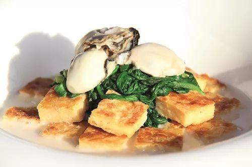 蛎黄野茼蒿炖自制豆饼