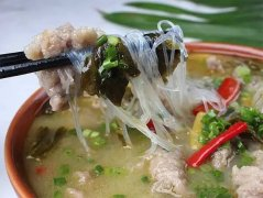 酸菜粉丝滑肉汤