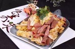 有机白菜炝海肠