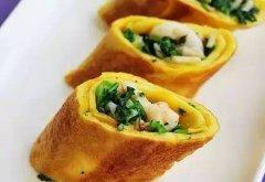 荠菜海鲜卷