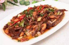 拍蒜紫苏蒸鱼虾