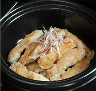 鹅肝酿鸡腿菇