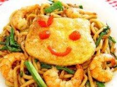 福建虾炒面