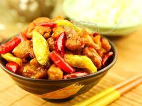 火爆川菜之三椒煸鸡