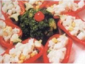兰花鱼米映红椒